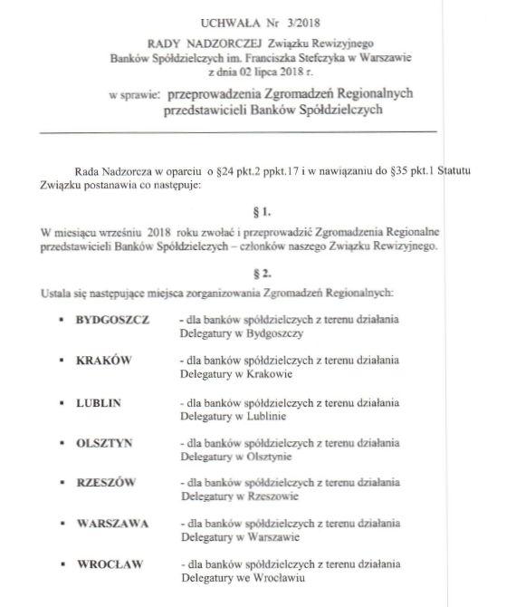 Uchwała Rady Nadzorczej ZRBS